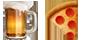 אימוג'י פיצה ובירה